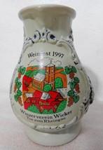 Weinfest 97 German Wine Pitcher Winzerverein Wicker Tor Zum Rheingau Okt... - $35.81