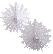 Ginger Ray Vintage Noel Christmas Snowflake Tissue Paper Decorations, Mixed - $9.50