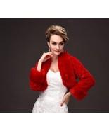 Newly Red Warm Wedding Fur Winter Jackets With Long Sleeve ,Wedding Coat... - $25.33
