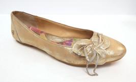 BORN Size 8 / 39 Gold Ballet Leather Flats Shoes - $44.00