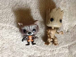 Pops Funko Guardians of the Galaxy Rocket and Groot Marvel Bobble head l... - $14.99
