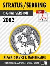 2002 DODGE STRATUS / CHRYSLER SEBRING FACTORY REPAIR SERVICE MANUAL - $9.90