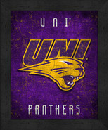 """Northern Iowa Panthers """"Retro College Logo Map"""" 13x16 Framed Print  - $39.95"""