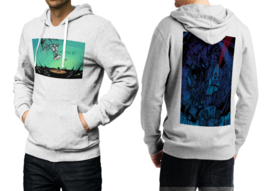 Portal  White Cotton Hoodie For Men - $39.99