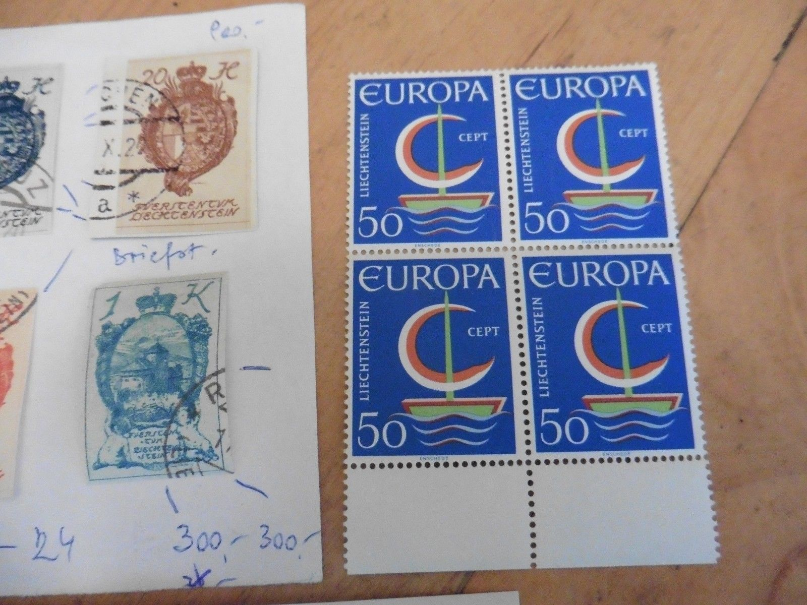 F65 LOT Liechtenstein stamps royal wedding , Europa 50 & imperforate colored ??