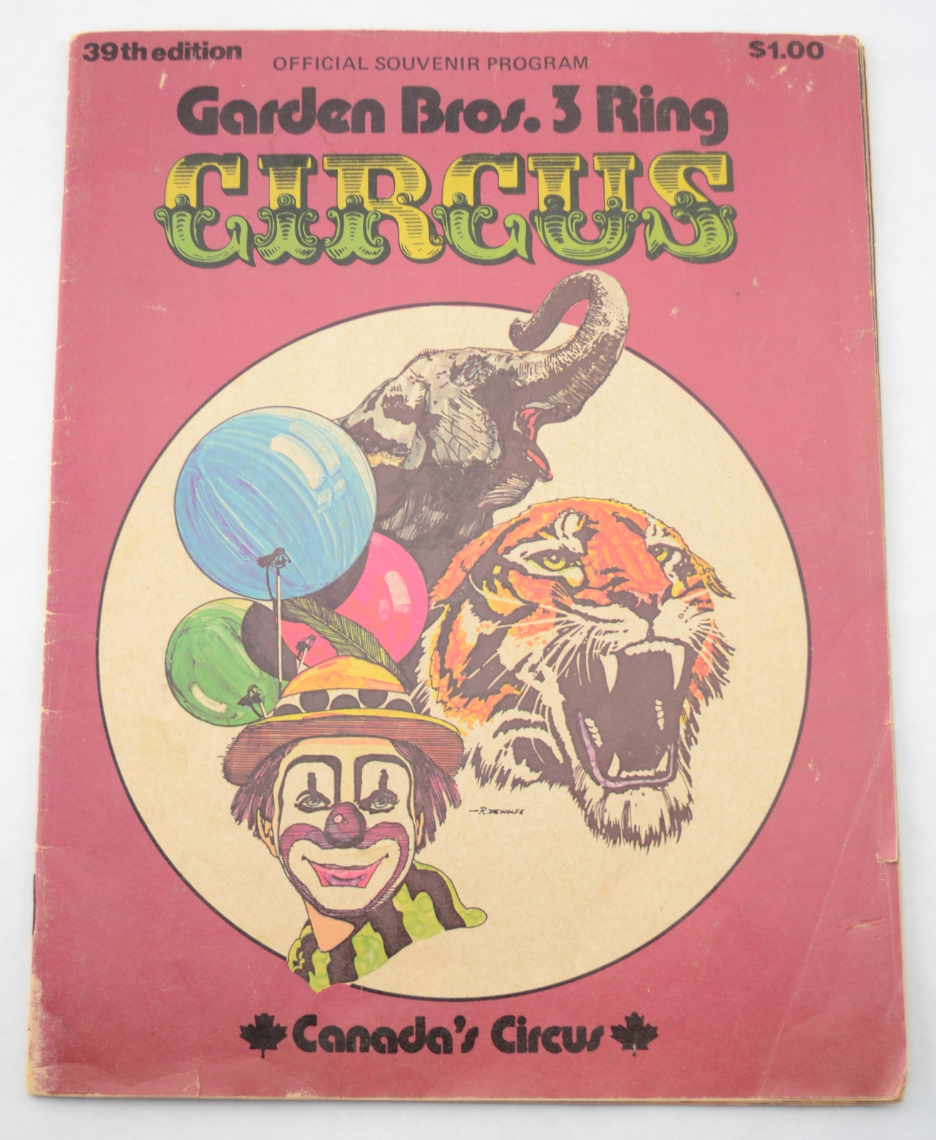 Garden Bros 3 Ring Circus Canada 39 S 39th Edition Program Vintage Advertising Programs Posters