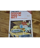 Chilton's Dodge 68-77 Repair Manual - $10.99