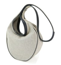 Authentic HERMES Sac Luco Gray Canvas and Leather Shoulder Bag Purse #22771 - $395.00