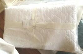 Pottery Barn Brie Quilt Set White Queen 2 Standard Shams Diamond 3pc Set - $181.52
