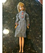 Francie Straight Leg 1966 Blonde Brown Eyed Barbie orig blush Checkered ... - $129.95