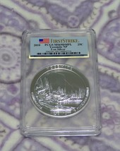 2010 PCGS MS69 DMPL FS Yosemite 5 OZ .999 SILVER Coin America The Beautiful