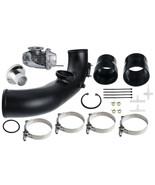 Black Charge Tube Kit w/ BOV BLOW OFF For BMW N54 E82 E91 E93 135 335ix ... - $157.36