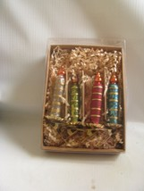 Set of 4 Boxed Candle Clip Ornaments Asst. Colors Bethany Lowe - $49.50