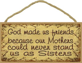 Berry Vine God Made Us friends Primitive Rustic Sign - $12.86