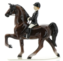 Hagen-Renaker Specialties Ceramic Figurine Dressage Horse with Rider image 6