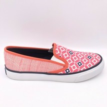 Sperry Womens Loafer Flat Shoes Pink White Geometric Slip Ons 6.5 M - $18.22