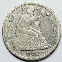 1872 Seated Dollar $1 Silver Coin Lot 519-6