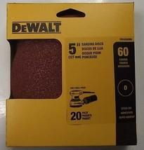 """Dewalt DWAS50060 5"""" 60 Grit Sanding Discs No Hole Stick-on 20pk - $3.71"""