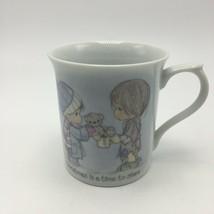 Precious Moments 1985 Christmas is a Time to Share Mug - $15.95