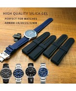 19 20 21 22mm Watchband Silicone Rubber Watch Strap Flat End Fashion Wri... - $46.05