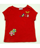 THE CHILDRENS PLACE GIRLS SIZE 24M TOP RED LADYBUG CHERRIES FLOWERS COTT... - $8.41