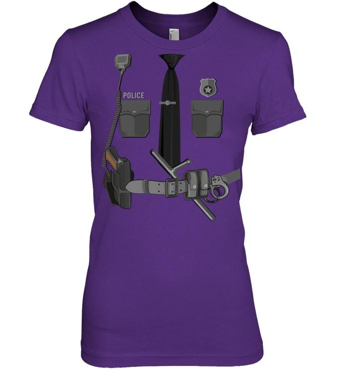 Funny Police Officer Halloween Tshirt Costume Gift Ideas