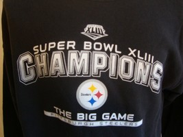 NFL Pittsburgh Steelers football crew neck sweatshirt size M Super Bowl ... - $29.69