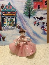 Very Rare Vintage Lefton Lady Figurine Polkadot... - $29.95
