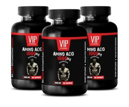 essential amino acids - AMINO ACID 1000mg - boost recovery post workout 3 Bottle - $42.03