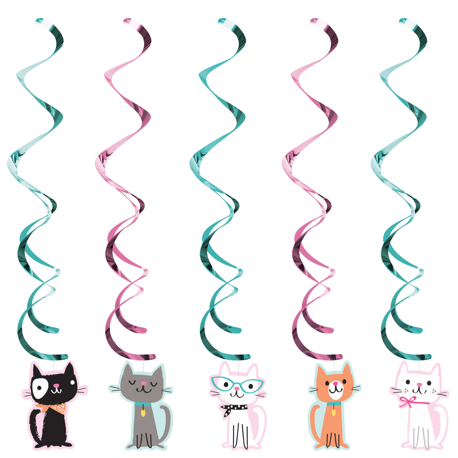 "Perr fect Party 39"" Asssorted Dizzy Danglers, Case of 30"