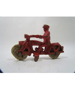 Antique Hubley Cast Iron Cop Motorcycle - $112.95
