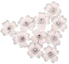 20 PCS 10mm Lovely Flower Pattern For Nail Art Decoration, White
