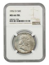 1952-D 50c NGC MS66 FBL - Franklin Half Dollar - $480.15