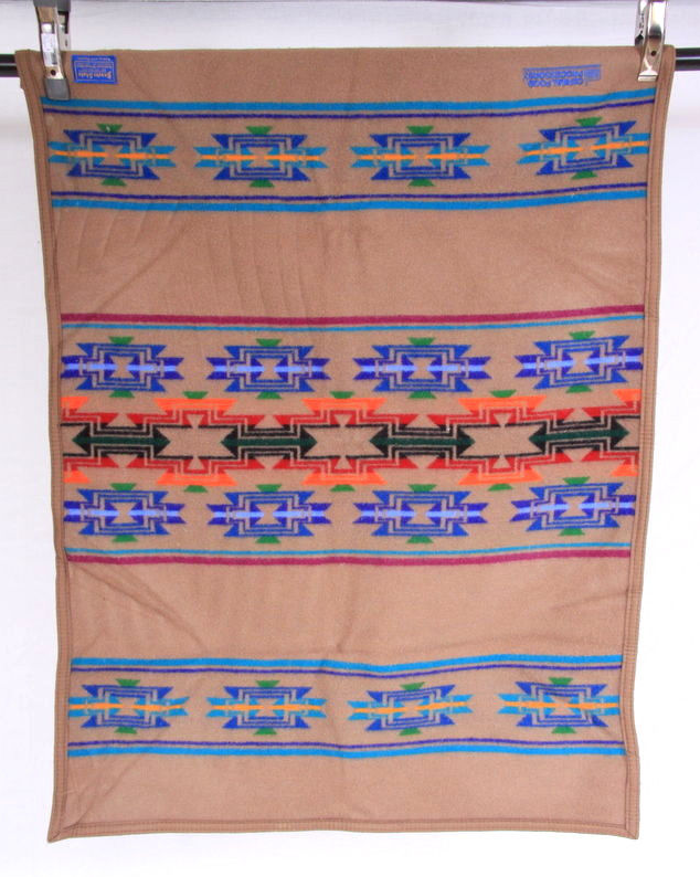 Primary image for Vtg 70s PENDLETON BEAVER STATE Blanket Southwestern Wool Shawl  Wrap Throw 42""