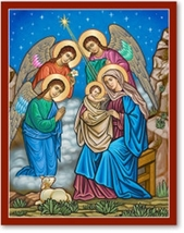"""And the Angels Were Amazed Icon - 11"""" x 14"""" Prints With Lumina Gold"""