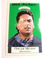 1996 Signature Rookies Old Judge Signatures #23 Oscar Munoz AUTO /6000 - $8.95