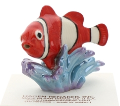 Hagen-Renaker Miniature Ceramic Fish Figurine Anemone Clownfish image 1