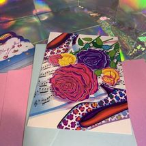 Lisa Frank Stationery Tin Markie Imagionationery Heels Roses Notecards Party  image 12