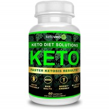 ketoveo Keto Pills That Work Fast for Women & Men - Keto BHB Salts 60 Caps - $96.99