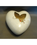 Takahashi San Francisco Gold Decorated Heart Shaped Butterfly Trinket Box - $8.99