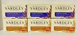 Lot of 6 Yardley soaps 4.25oz (3) English Lavender & (3) OATMEAL and Almond - $11.37