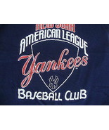 Vintage MLB New York Yankees Logo 7 Soft Thin Navy Blue baseball T shirt XS - $17.66