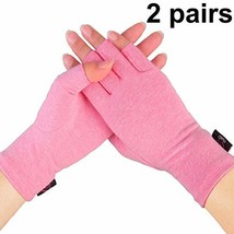 2 Pairs - Compression Arthritis Gloves for Women, Fingerless Design to R... - $20.46