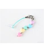 Pastel Rainbow Phone Charm Earphone Cap, Fairy Kei, Jfashion, Kawaii Acc... - $10.00