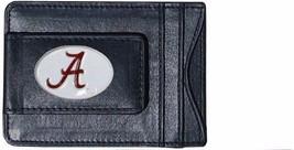 alabama crimson tide logo ncaa college emblem leather cash & cardholder usa made - $27.07