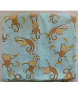 Fabric Fabric Traditions, 2009, Monkeys Bananas on Blue Background, 43 W... - $12.99