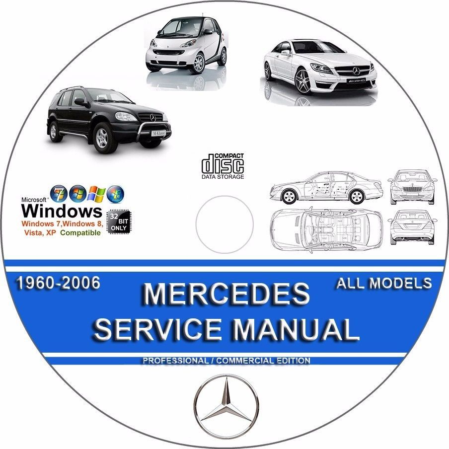MERCEDES SLK-CLASS SLK200 SLK230 SLK320 SLK350 SLK55 SERVICE REPAIR MANUAL  DVD