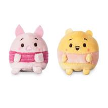 Disney Usa Winnie & Piglet Scented Ufufy Plush Mini Set New with Tags - $10.87