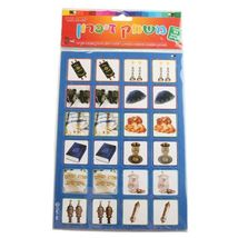 Judaica Children Cardboard Torah Memory Game 24 pieces Jewish Symbols Teaching