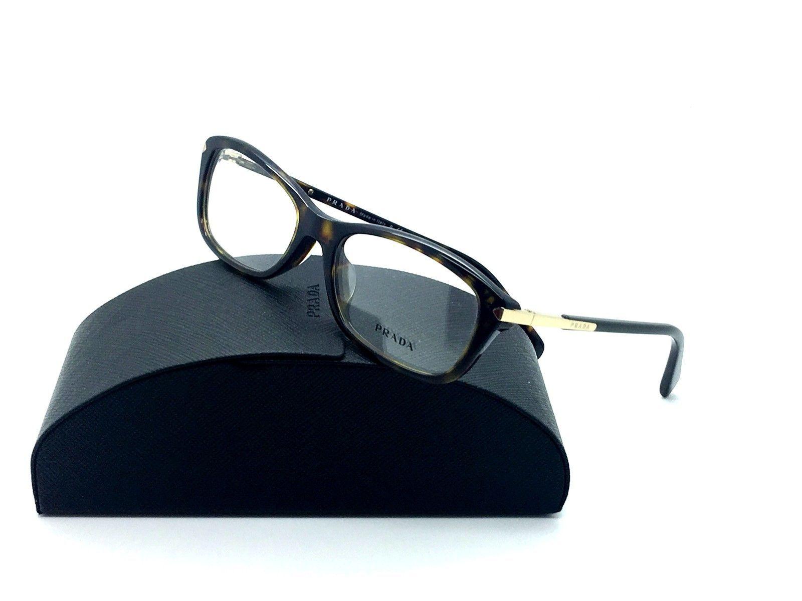 ad9d1da6389 S l1600. S l1600. Prada Tortoise Eyeglasses VPR 04P 2AU 1O1 54 mm Demo  Lenses Italy
